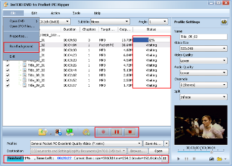 ImTOO DVD to Pocket PC Converter Guide - Extract file
