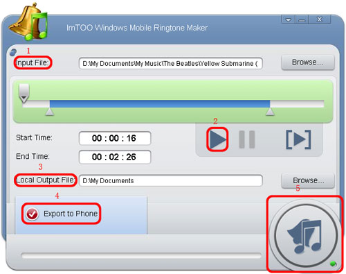 ImTOO Windows Mobile Ringtone Maker